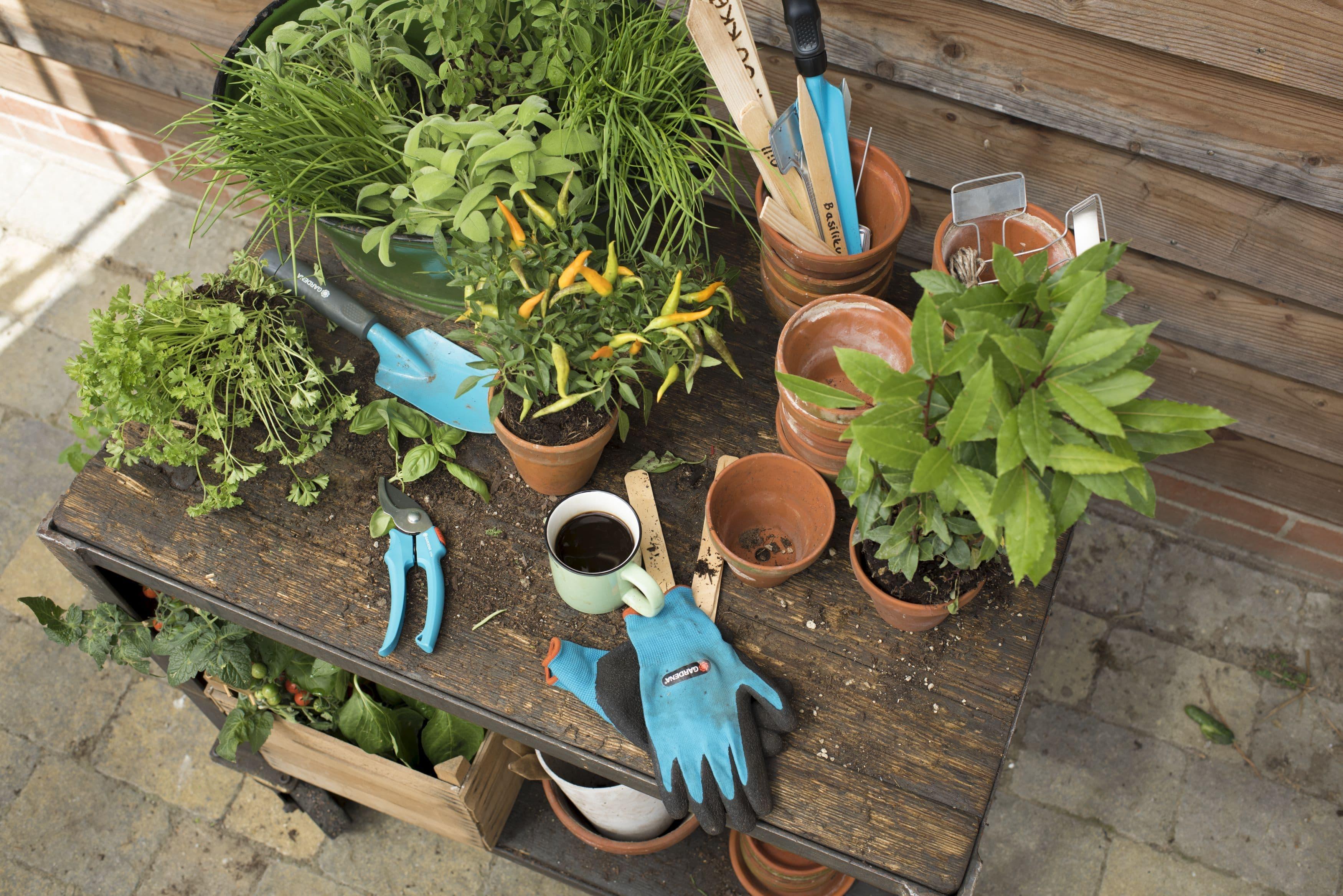 """Купить набор садовых инструментов """"gardena"""" для балкона, 4 п."""